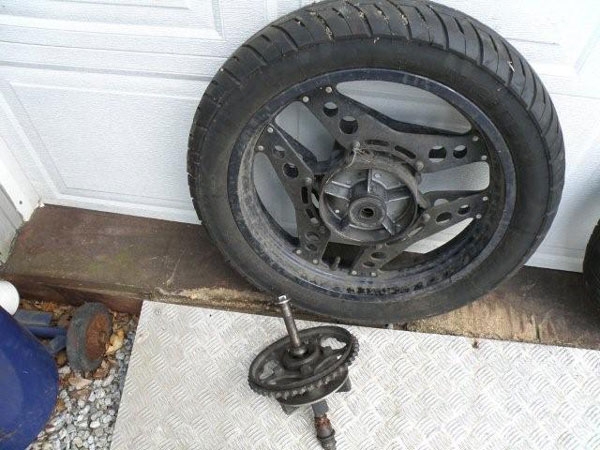 baghjul med gear